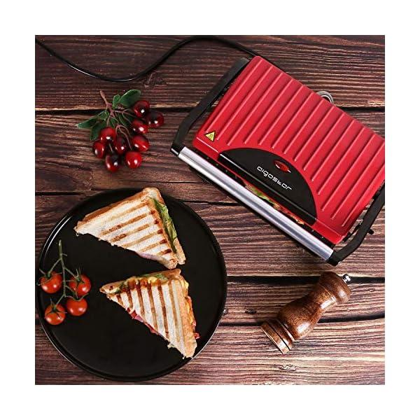 Aigostar Warme 30HHH - Panini Maker/Griglia, Pressa a sandwich, Griglia elettrica, 700 Watt, Fredda al tocco… 5