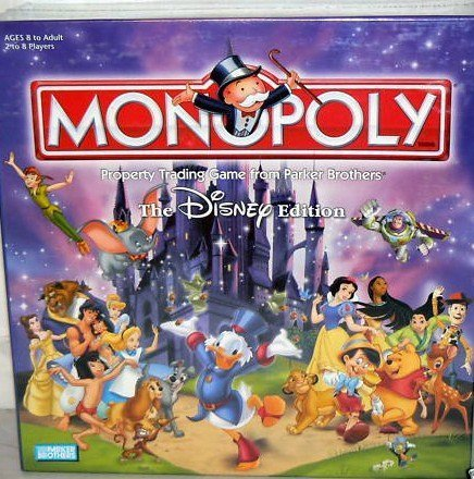 - The Disney Edition Monopoly Board Game 2001