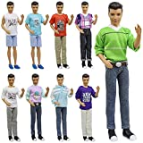 ZITA ELEMENT Lot 5 PCS Fashion Casual Wear Clothes/outfit for Barbie's Boy Friend Ken Doll