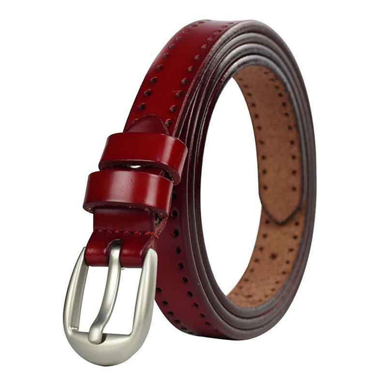 KEBINAI Women Belts Fashion Thin Waist Belt Cummerbunds Genuine Leather Ladies Belt Straps