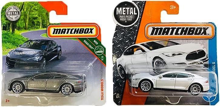 Matchbox Tesla Model S MBX Road Trip 19-35 & 26-125 Pack 2: Amazon.es: Juguetes y juegos