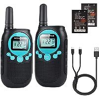 Rechargeable Walkie Talkies for Adults 5 Mile Long Range Blue Walkie-talkies 2 Pack 22CH 0.5W License Free Two Way Radio…