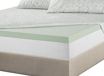zinus 2 inch green tea memory foam mattress topper full