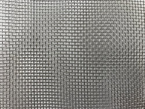 Muzata Stainless Steel Woven Wire Mesh Metal Security Guard Garden Insect Screen Cabinets Mesh Sheet 12 Holes- 12x12