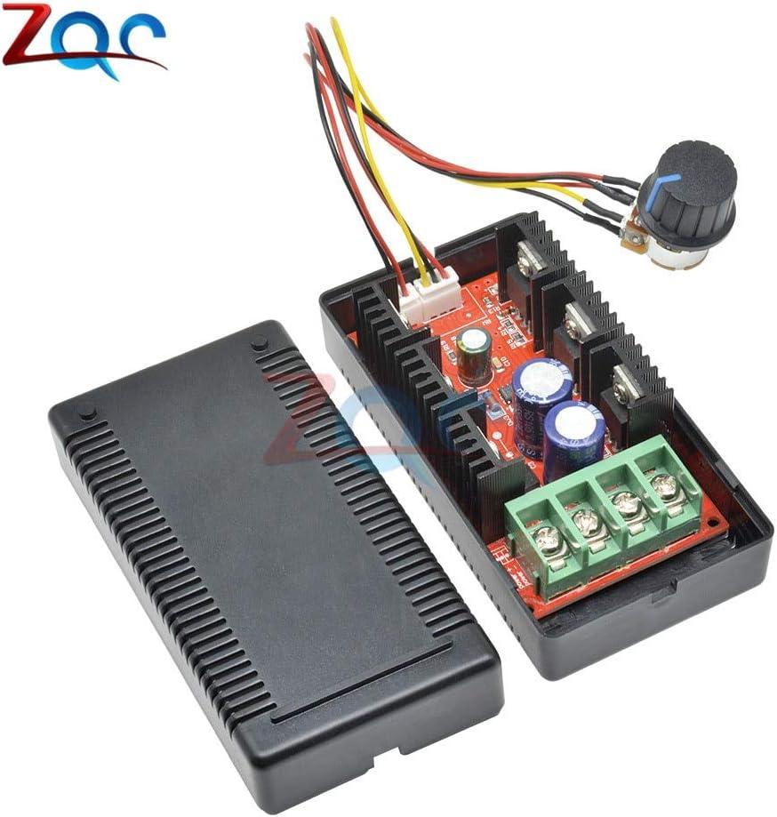 DC 12V 24V 48V 2000W MAX 10-50V 40A DC Controlador de velocidad del motor PWM HHO RC PWM Ventilador Regulador del coche Interruptor de control de potencia Arranque suave