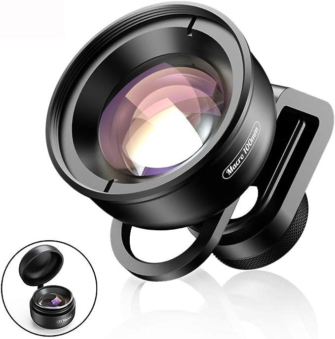 BAI YI Kit de Lentes para cámara de teléfono móvil, Lente Macro de 100 mm, 10 Lentes Super Macro para iPhone XS MAX Samsung S9 Smartphone: Amazon.es: Electrónica
