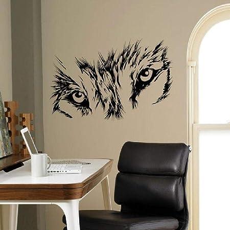 lyclff Sharp Wolf Eye Tatuajes de Pared Serie Animal Pintura de la ...
