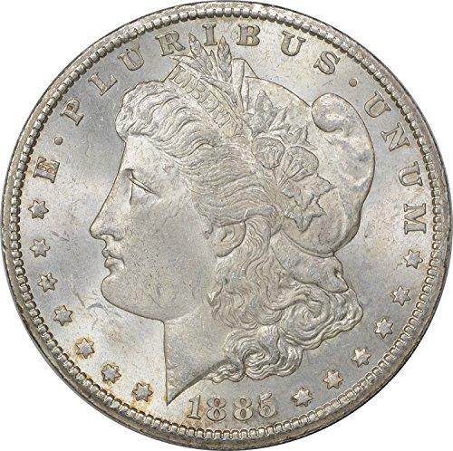 1885 CC Morgan Dollar MS60