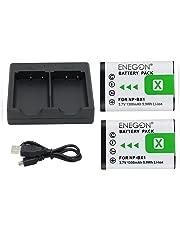 NP-BX1 ENEGON Ersatzbatterie (2er Pack) und Rapid Dual Charger für Sony NP-BX1, NP-BX1 / M8 und Sony Cyber-Shot DSC-RX100,DSC-RX100 II,DSC-RX100M II,DSC-RX100 V,DSC-RX100 IV,DSC-RX100 VI, HDR-CX405.