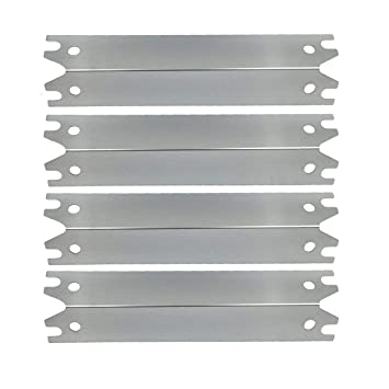 Set of 4PCS Stainless Steel Heat Plate Replacement for Gas Grill Model  Brinkman 810-2410-S, 810-2411-F, 810-2411-S, 810-3885-F, 810-3885-S,  810-4238-0
