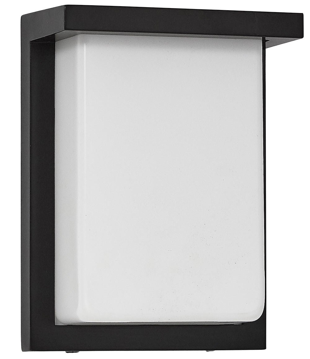 Flush MountModern Outdoor Wall Sconce | Squared 8'' Clean Line Exterior Light | Frosted Lens | 3000K LED Lighting with No Bulb Required (Black, 8'')