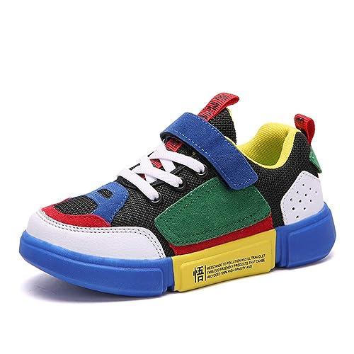 Klettverschluss Laufschuhe Atmungsaktiv Für Mädchen Low Top Unpowlink Laufen Turnschuhe Sneakers Kinder Ultraleicht Schuhe Jungen Sportschuhe pqUVzLSMG