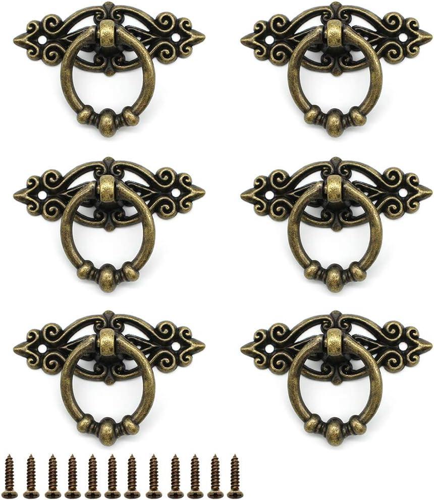 Red Bronze Dylan-EU 6 piezas Tirador para Puerta de Armario Aldaba Cabeza de Leon Pomos Vintage Asas Aleaci/ón de Zinc para Armarios Cocina Caj/ón