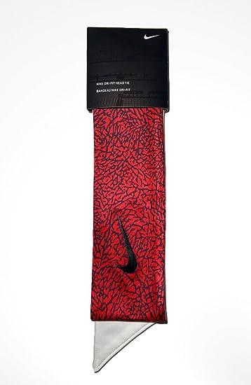 Custom Elephant Print Nike Dri-Fit Head Tie Headband Red Black White - Tie  Back 0327d1ebafe