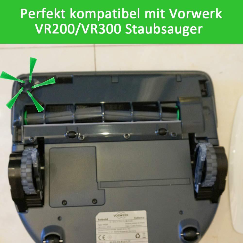 Hepa Filter Seitenbürsten Zubehör für Vorwerk Kobold VR200 VR300 Saugroboter