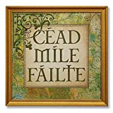 """Cead Mile Failte"" 13"" Square Glass Framed Print"