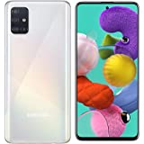 "Samsung Galaxy A51 Smartphone, 2.3 GHz, 1.7 GHz Octa-Core, 6 GB, 128 GB ROM, 6.5"" Display, Android 10, Prism Crush White"
