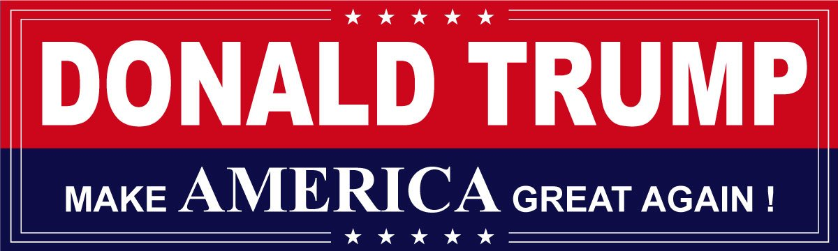 Vipergraphics, Trump in 2016 Bumper Stickers ~ Make America Great Again ~  Trump for President Pack) by Vipergraphics Vipergraphics stickers are made  with ...