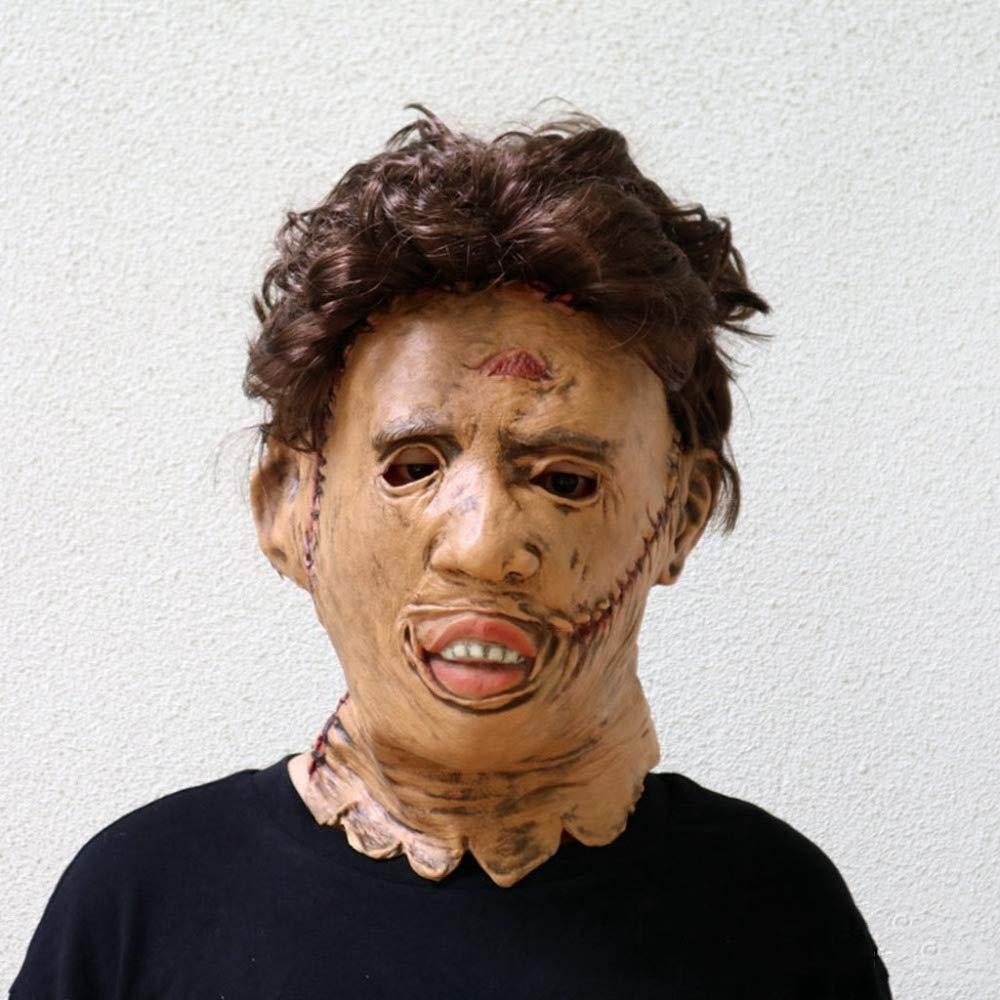 LEIU Máscara de Asesino de la Motosierra máscara de Terror de Halloween látex Barra de la película de Baile Accesorios de la película