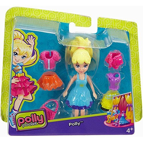 Polly Pocket Fashion Small Pack Polly with Blue Dress