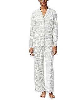 097b5f3fa40a Charter Club 100% Cotton Print Pajama Set (Dragonfly Floral, XXX ...