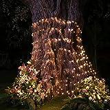 christmas bush lights - YUNLIGHTS LED Net Lights 9.8ft x 6.6ft 330 LEDs Mesh Fairy Lights for New Year Valentine Christmas Wedding Home Garden Party Decor, Warm White