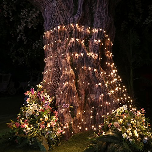 Christmas Tree Lights, LED Net Lights Christmas Tree Decorations 9.8ft x 6.6ft 330 LEDs Mesh Fairy Lights Tree Wrap 8 Lighting Modes for Christmas Wedding Valentine Home Garden Party Decorations