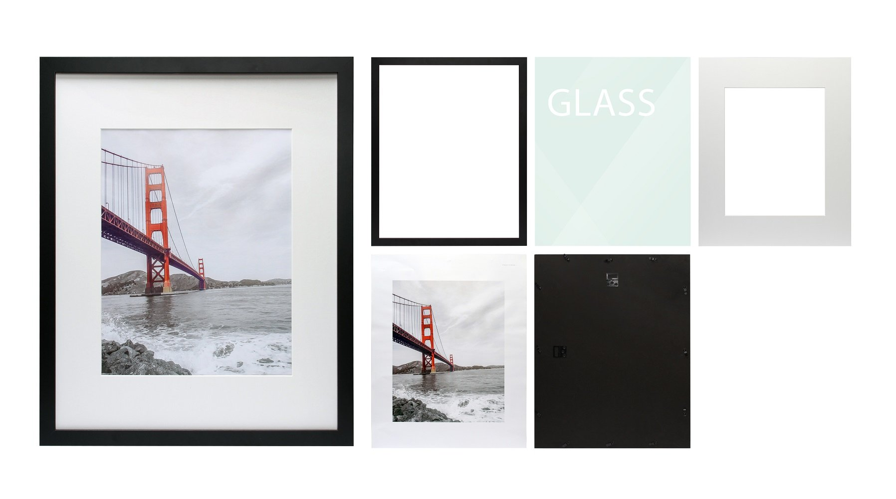 Frametory 16x20 black picture frame made to display pictures frametory 16x20 black picture frame made to display pictures 11x14 photo with ivory color mat wide molding preinstalled wall mounting hardware 16x20 jeuxipadfo Gallery