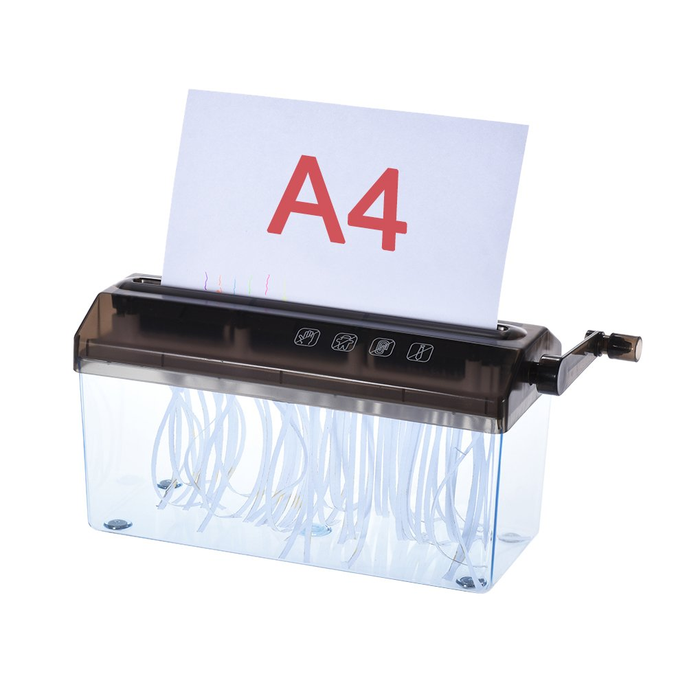 Aibecy A4 9 Manual Hand Paper Shredder Document File Handmade Straight Cutting Machine Tool for School Office Home Use