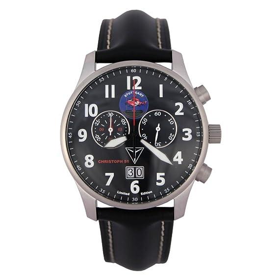 JUNKERS cronógrafo reloj para hombre Christoph 51 luftrettung edición limitada - 6686: Amazon.es: Relojes