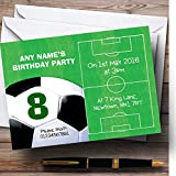 Football Pitch Ball Soccer Personalized Birthday Children's Party Invitations