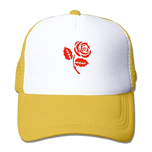 ddb1d7960 Amazon.com: Cuihualili Red Rose Vector Women's Mesh Unisex Snapback ...