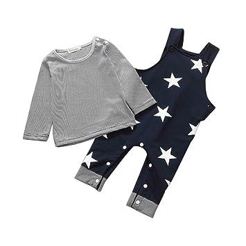 f035ea6a16b65 星 青灰 2点セット(上着+パンツ) ベビー服 女の子 赤ちゃん服 幼児