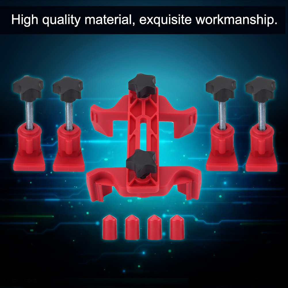Zerone Camshaft Locking Tool, Red Universal Dual Timing Gear Clamp Set Cam Timing Locking Tool Set for Car Auto