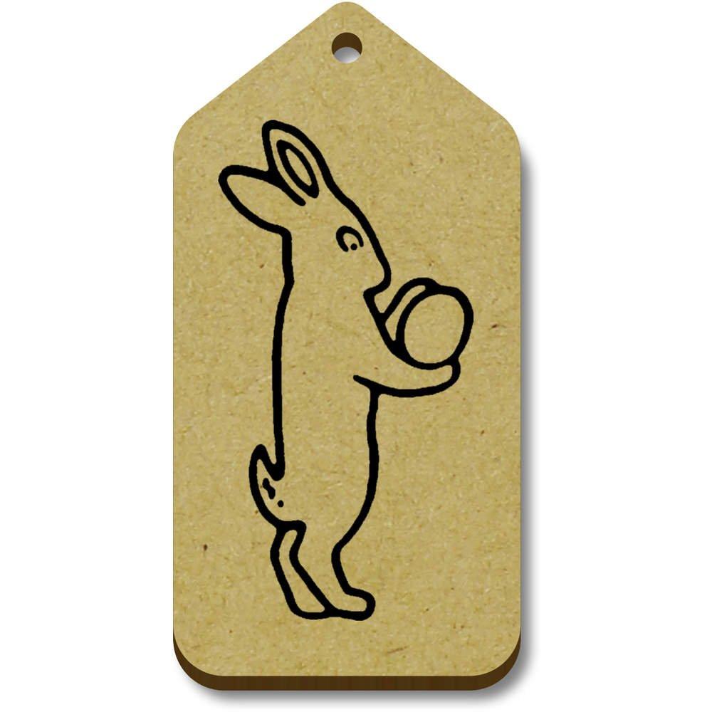 Azeeda 10 x 'Lapin de Pâques' etiquettes de Bagage / Cadeau en Bois (TG00068911)