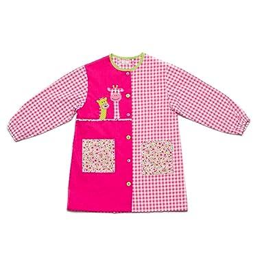 Dyneke Bata escolar botón rosa Jirafas (Talla 4)