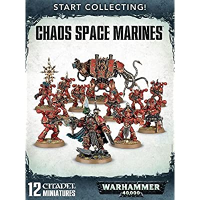 "Games Workshop 99120102079"" Chaos Space Marines: Start Collecting: Toys & Games"