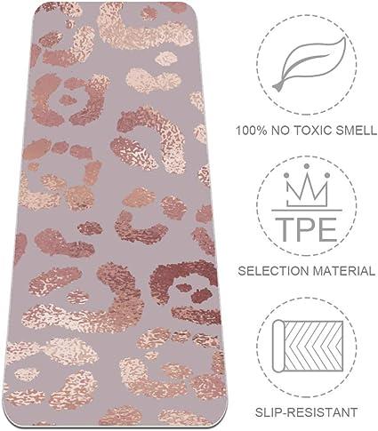Amazon Com Leopard Skin Rose Gold Elegant Texture Yoga Mat Workout Mens Yoga Mat Non Slip Thick Floor Exercise Mats Grip Pilates Gyms Yoga Mats For Women 72 X 24 Sports Outdoors