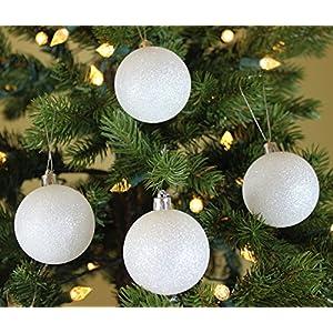Festive Season White Swirl Christmas Ball Ornaments 102