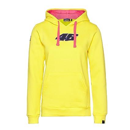 MotoGP Valentino Rossi - sudadera con capucha para mujer, color amarillo, mujer, amarillo