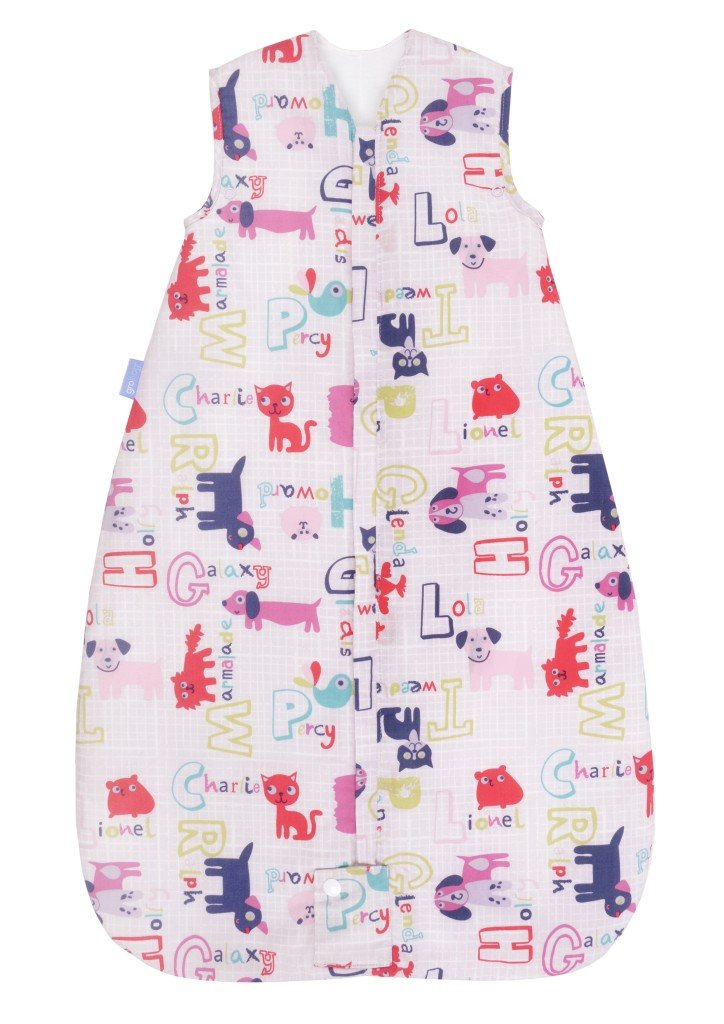 Grobag Alphapinks - Saco de dormir para bebé (1 tog, 0-6 meses) rosa rosa Talla:6-18 meses: Amazon.es: Bebé