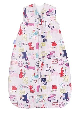 Grobag Alphapinks - Saco de dormir para bebé (1 tog, 0-6 meses) rosa rosa Talla:6-18 meses