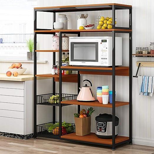 Cocina de almacenamiento en rack, multi-capa de microonda Mesa con ...