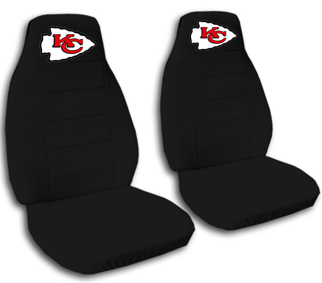 2 Black Kansas City seat covers for a 2007 to 2012 Chevrolet Silverado. Side airbag friendly.