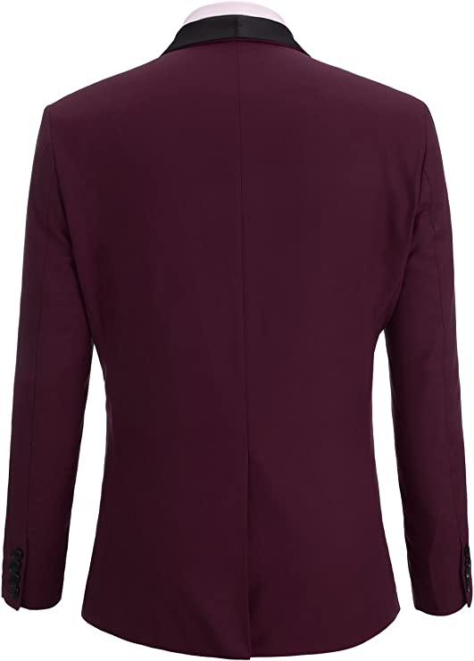 Fisoul - Blazer - para Hombre Burgundy (Solid Color) Large: Amazon ...