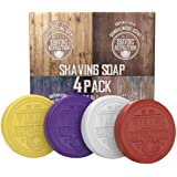 Shaving Soap for Men - Shave Soap for Use with Shaving Brush and Bowl for Smoothest Wet Shave - 4 Pack Variety, Each Pack 2.5oz