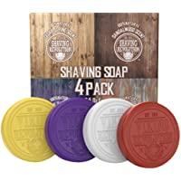 Shaving Soap for Men - Shave Soap for Use with Shaving Brush and Bowl for Smoothest Wet Shave - 4 Pack Variety, Each…