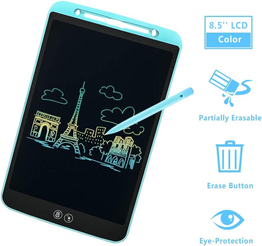 IDEASY Actualice la Tableta de Escritura LCD de Borrado Parcial y Completo de 10 Pulgadas Almohadilla de Escritura LCD para Ni/ños para la Escuela Azul el Hogar y la Oficina
