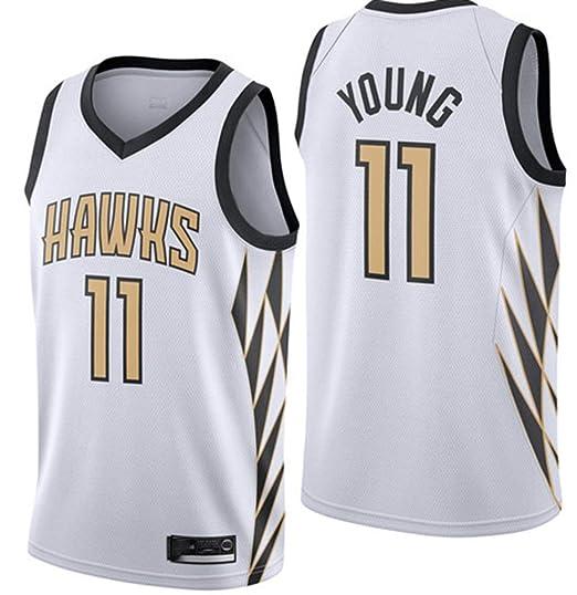 LSJ-ZZ Camiseta de Baloncesto para Hombre NBA Young # 11 Hawks ...