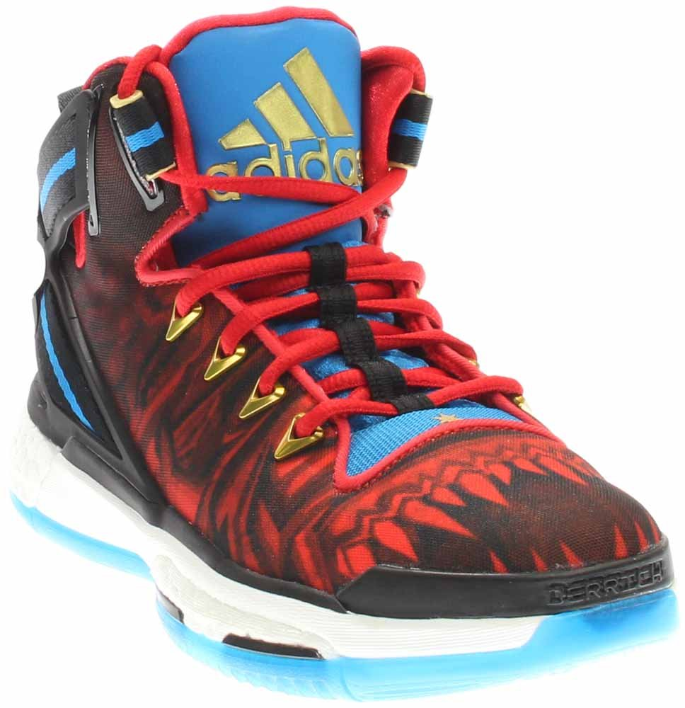adidas Performance D Rose 6 Boost J Skate Shoe - Black/Vivid Red/Shock Blue - Boys - 7 by adidas